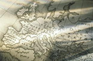 An antiquarian map of Europe