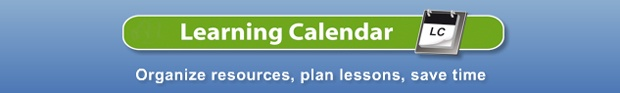 Learning Calendar: Organize resources, plan lessons, save time