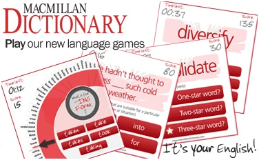 Macmillan Dictionary games_banner