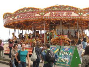 Carousel on Brighton seafront