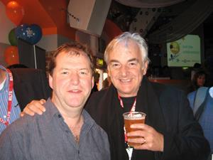 Adrian Tennant and Ken Wilson at the onestopenglish party