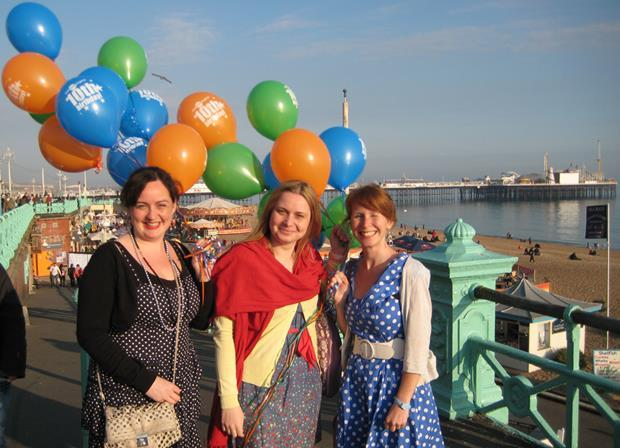Onestopenglish team with party balloons
