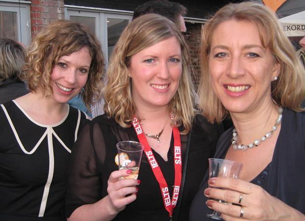 Sophie Hern, Lucy Williams and Karen Richardson at the onestopenglish party