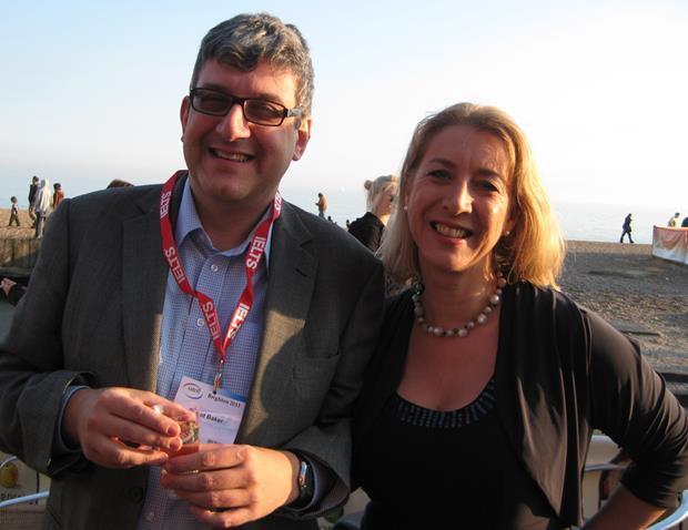 David Baker and Karen Richardson at the onestopenglish party